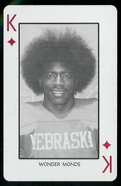 Wonder Monds 1974 Nebraska Playing Cards football card