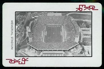 Memorial Stadium 1974 Nebraska Playing Cards football card
