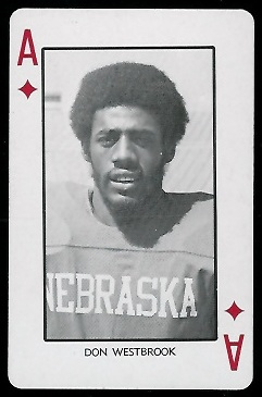 Don Westbrook 1974 Nebraska Playing Cards football card