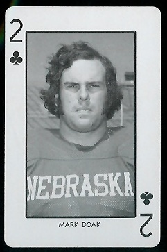 Mark Doak 1974 Nebraska Playing Cards football card