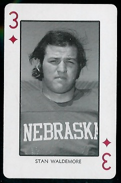 Stan Waldemore 1974 Nebraska Playing Cards football card