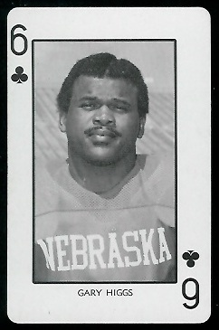 Gary Higgs 1974 Nebraska Playing Cards football card