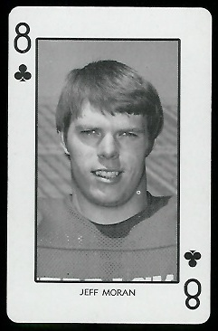 Jeff Moran 1974 Nebraska Playing Cards football card