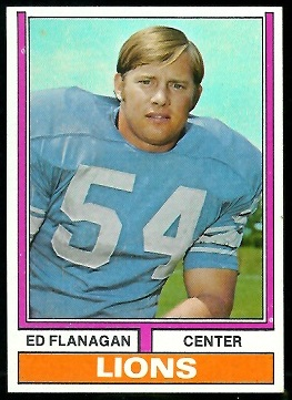 Ed Flanagan 1974 Parker Brothers football card