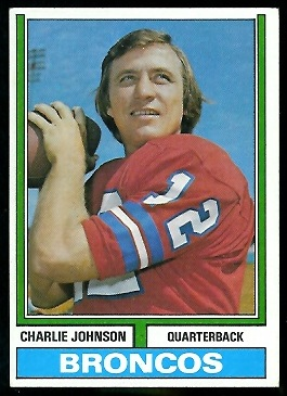 Charley Johnson 1974 Parker Brothers football card
