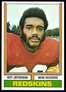 Roy Jefferson 1974 Parker Brothers football card