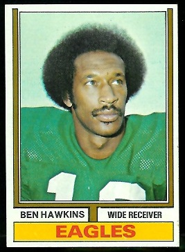 Ben Hawkins 1974 Parker Brothers football card