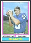 1974 Parker Brothers Norm Snead