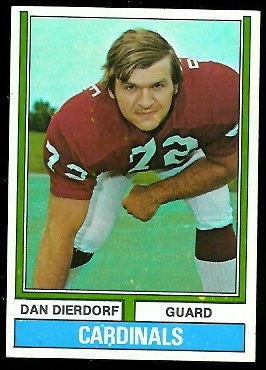 Dan Dierdorf 1974 Parker Brothers football card