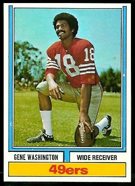 Gene Washington 1974 Parker Brothers football card