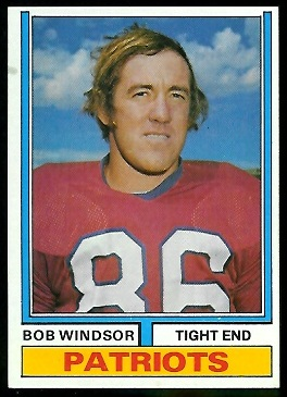 Bob Windsor 1974 Parker Brothers football card
