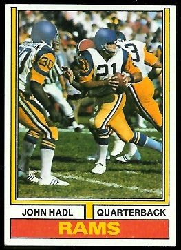 John Hadl 1974 Parker Brothers football card