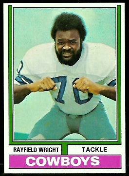 Rayfield Wright 1974 Parker Brothers football card