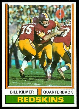Bill Kilmer 1974 Parker Brothers football card