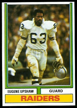 Gene Upshaw 1974 Parker Brothers football card