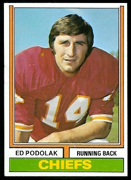 Ed Podolak 1974 Parker Brothers football card