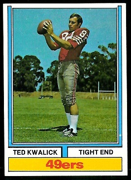 Ted Kwalick 1974 Parker Brothers football card