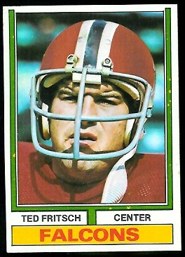 Ted Fritsch Jr. 1974 Parker Brothers football card