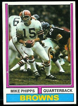 Mike Phipps 1974 Parker Brothers football card