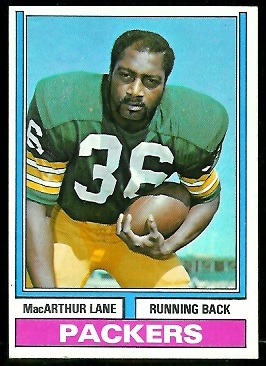 MacArthur Lane 1974 Parker Brothers football card