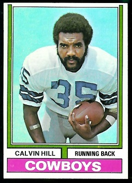 Calvin Hill 1974 Parker Brothers football card