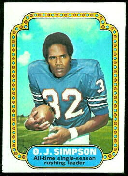 O.J. Simpson 1974 Topps football card