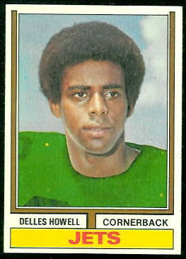 Delles Howell 1974 Topps football card