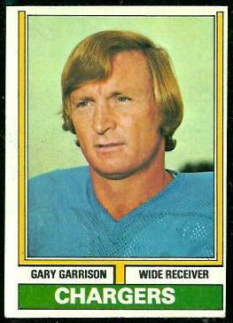 Gary Garrison 1974 Topps football card
