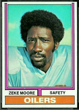 Zeke Moore 1974 Topps football card