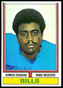 Ahmad Rashad 1974 Topps football card