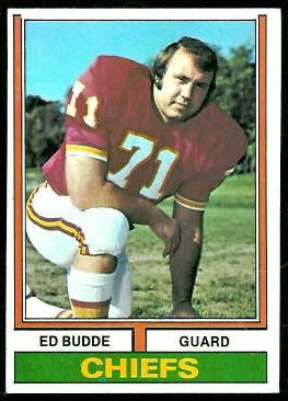 Ed Budde 1974 Topps football card