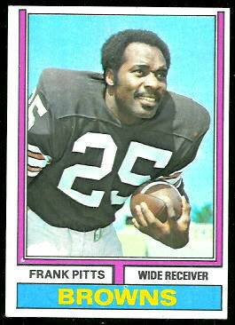 Frank Pitts 1974 Topps football card