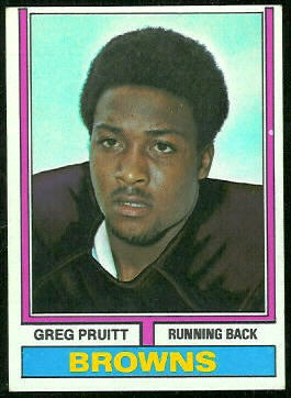 Greg Pruitt 1974 Topps football card
