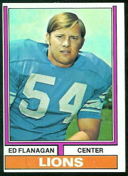 Ed Flanagan 1974 Topps football card