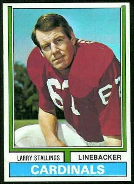 Larry Stallings 1974 Topps football card