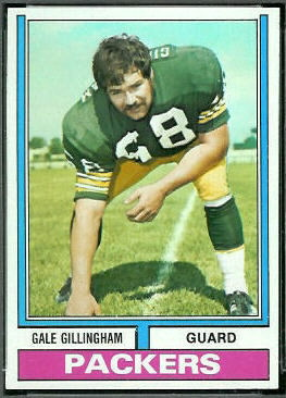 Gale Gillingham 1974 Topps football card