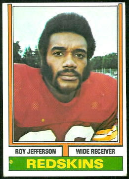 Roy Jefferson 1974 Topps football card