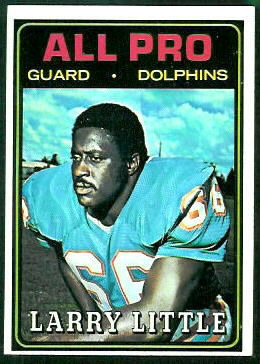 Larry Little All-Pro 1974 Topps football card