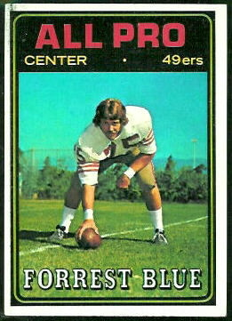 Forrest Blue All-Pro 1974 Topps football card