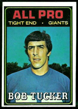 Bob Tucker All-Pro 1974 Topps football card