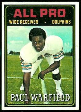 Paul Warfield All Pro 1974 Topps 128 Vintage Football