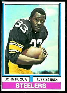 John Fuqua 1974 Topps football card