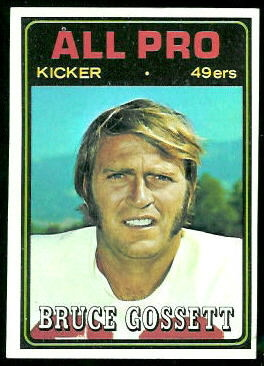 Bruce Gossett All-Pro 1974 Topps football card