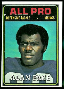 Alan Page All-Pro 1974 Topps football card