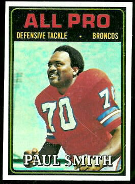 Paul Smith All-Pro 1974 Topps football card