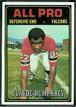 Claude Humphrey All-Pro 1974 Topps football card
