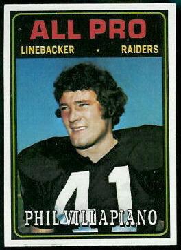 Phil Villapiano All-Pro 1974 Topps football card