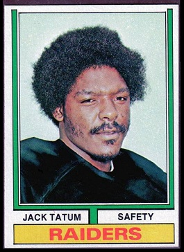 Jack Tatum 1974 Topps football card