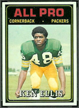 Ken Ellis All-Pro 1974 Topps football card