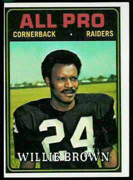 Willie Brown All-Pro 1974 Topps football card
